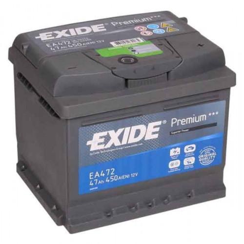 Autobatéria EXIDE Premium 12V 47Ah 450A - EA472